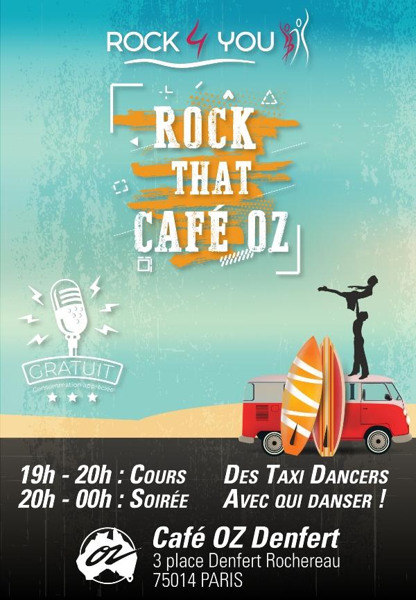 Cours de Rock gratuit, soirée gratuite le dimanche au Café Oz