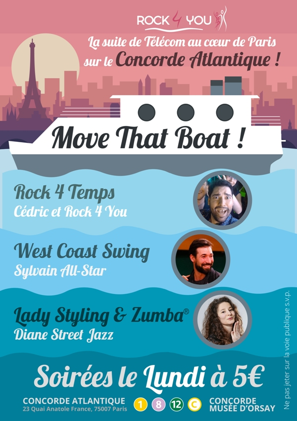 Soirées Rock, West Coast Swing, Lady Styling : Move That Boat